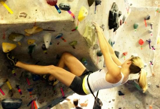 Lauren climbing
